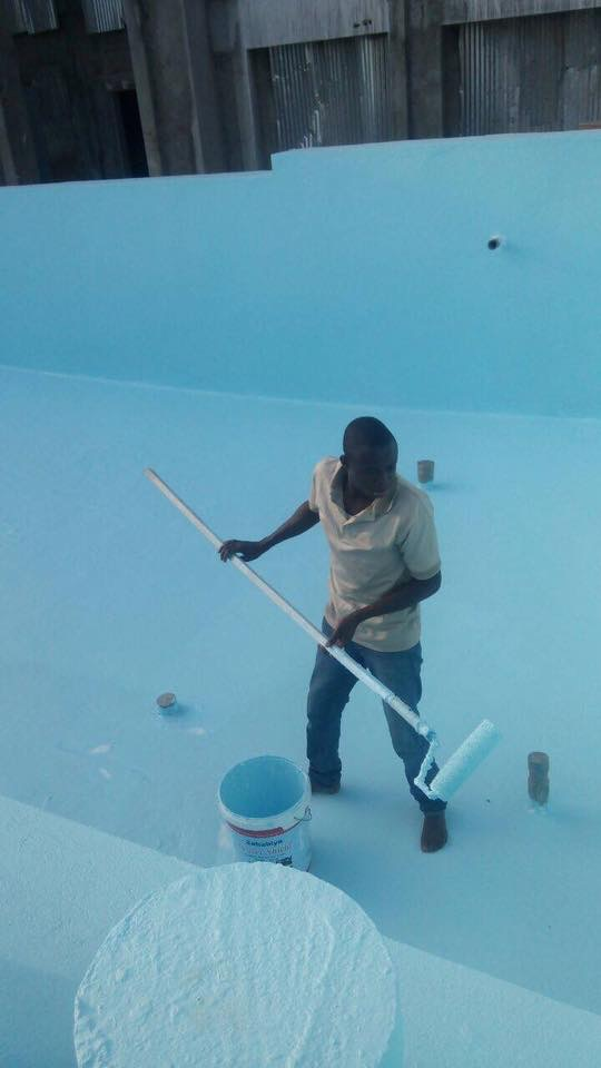 Swimming pool at a residential complex in Kampala